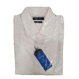 NWT NAUTICA White Collared Classic Dress Shirt